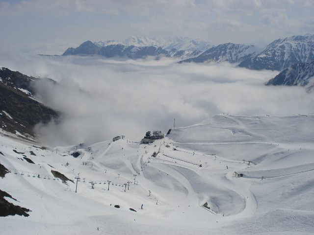Mer de nuage sur la vallée de Cauterets
