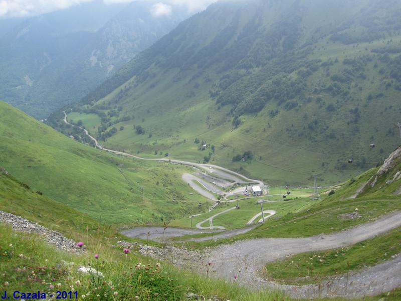 La piste de descente sur Cauterets par le Cambasque