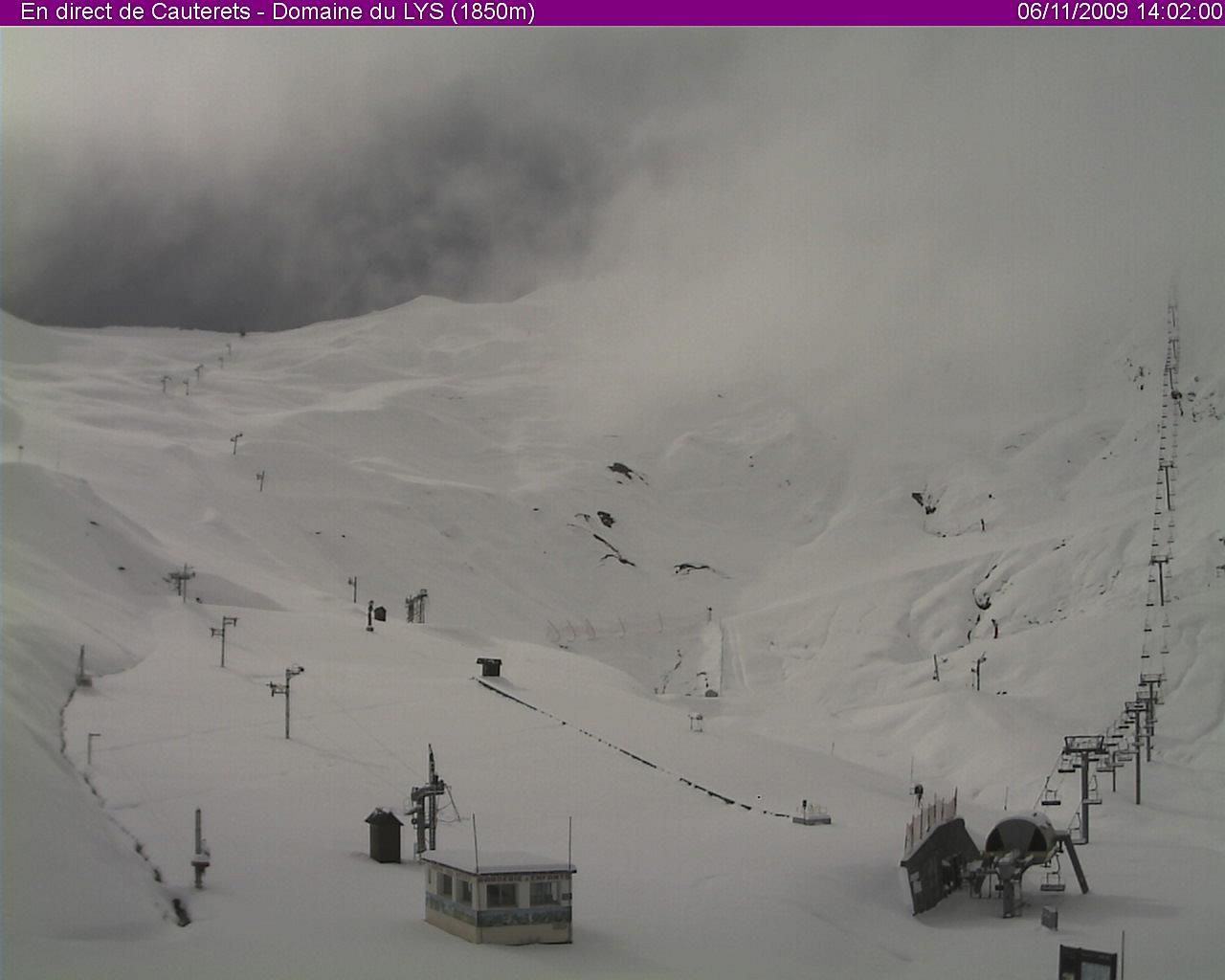 Premières neiges sur la station de ski de Cauterets