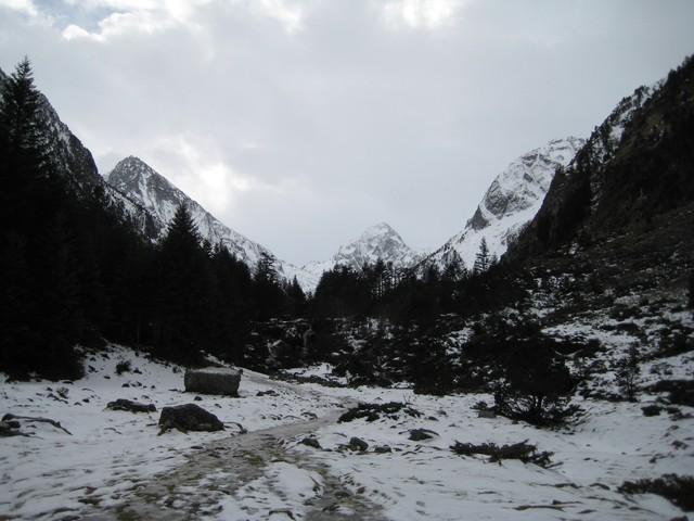 La vallée du Lutour et la Fruitière en hiver