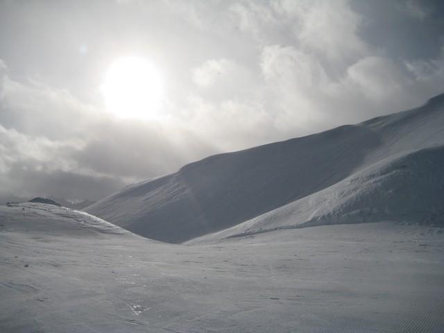 Les températures redescendent... la neige devient dure comme glace