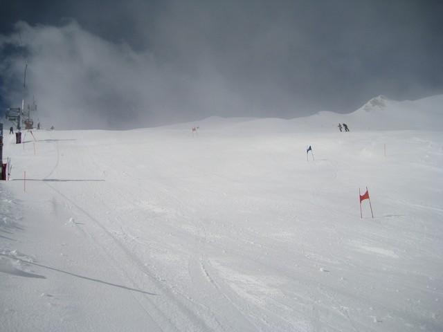 Une petite compétition de ski