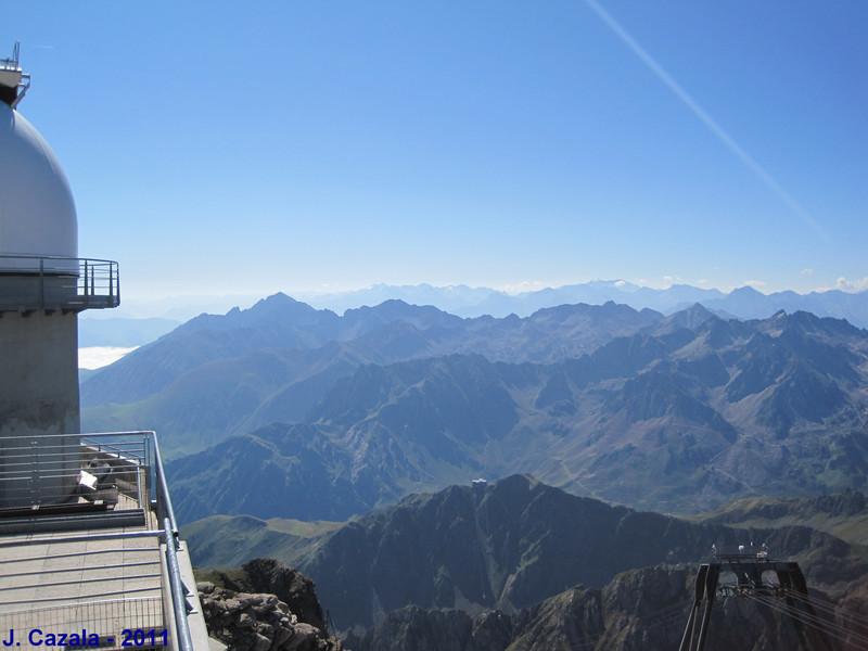 Vue sur la chaîne des Pyrénées !