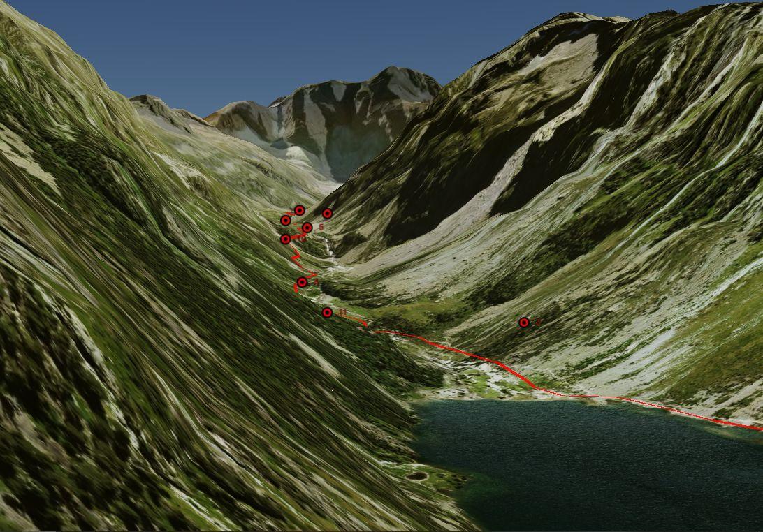 Vue 3D sur le Vignemale depuis la vallée de Gaube