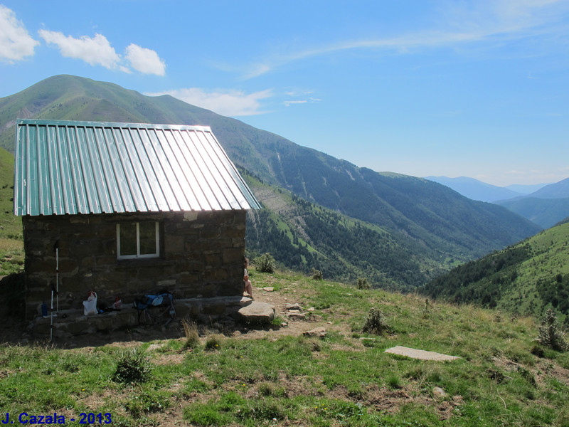La vallée Sorrosal depuis le refuge