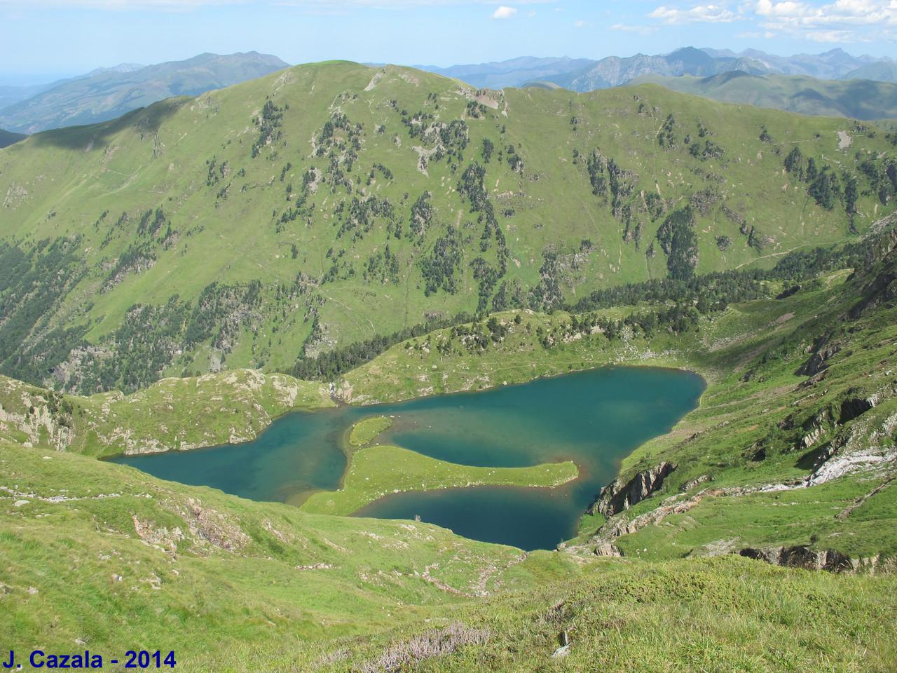 Lac Vert depuis le sentier
