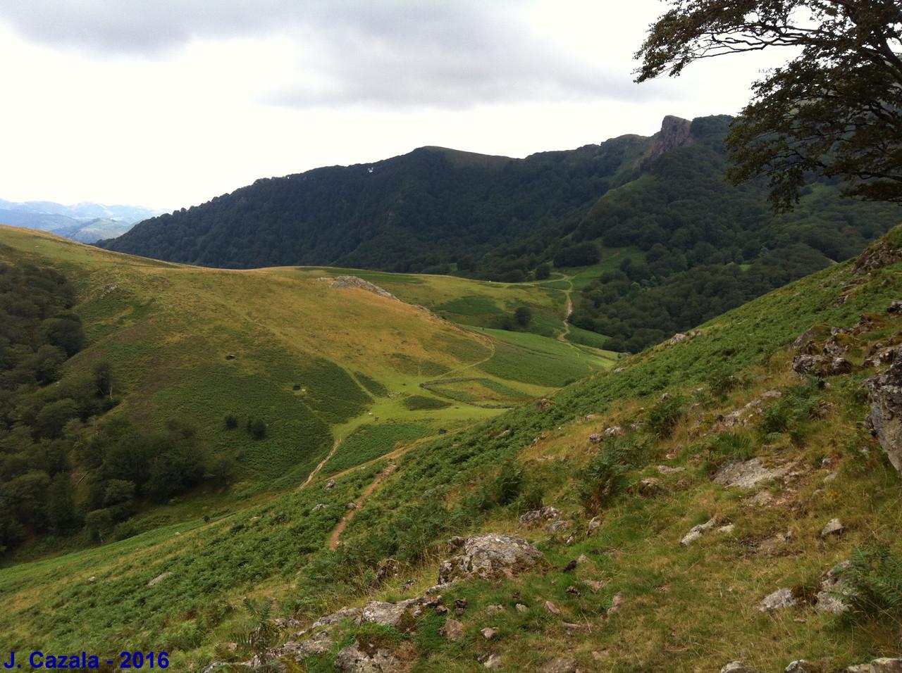Vue depuis la randonnée boucle du col d'Ispéguy