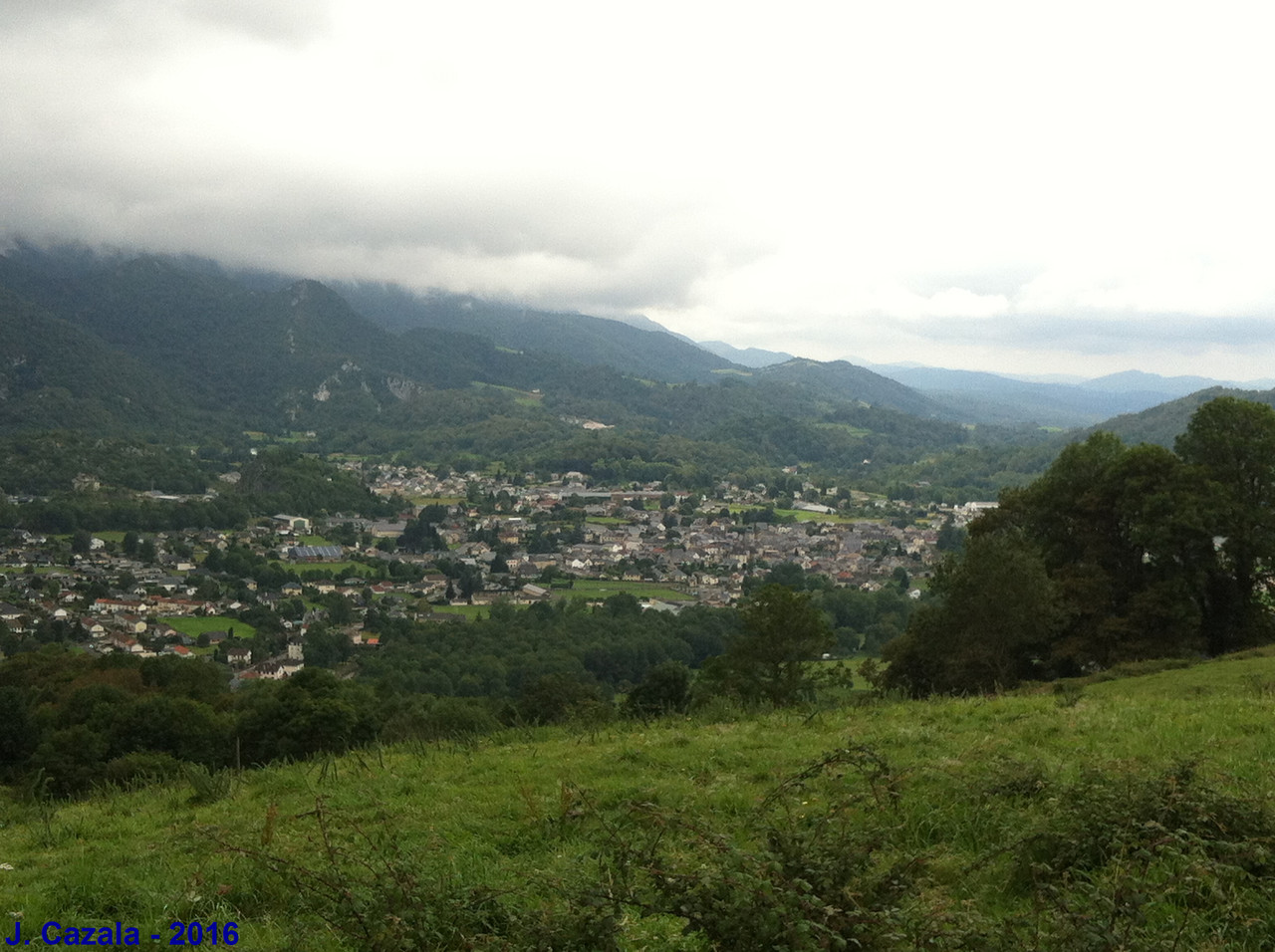 Vue sur la vallée depuis la randonnée