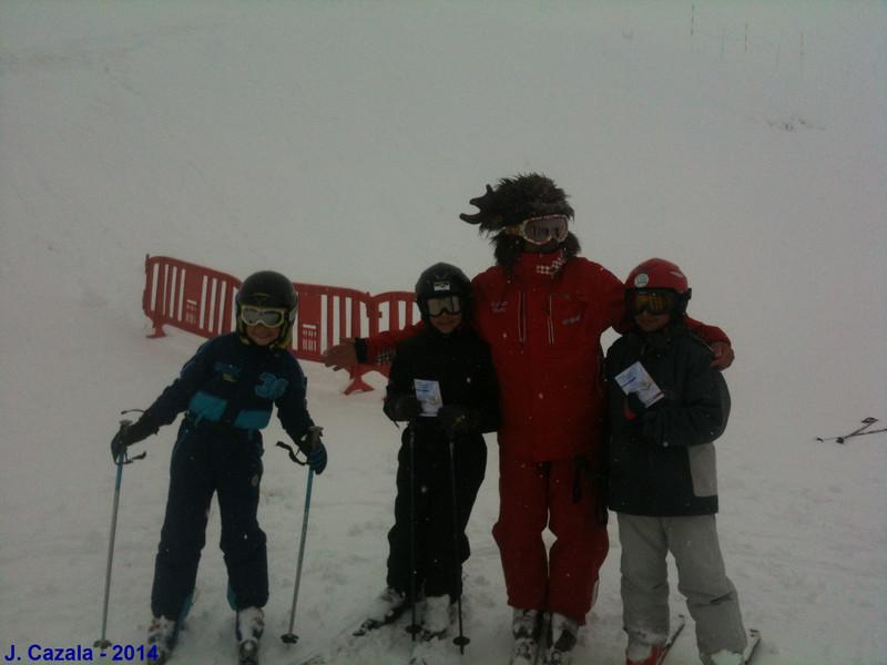 La photo du dernier cours de ski de la saison à l'ESF Cauterets