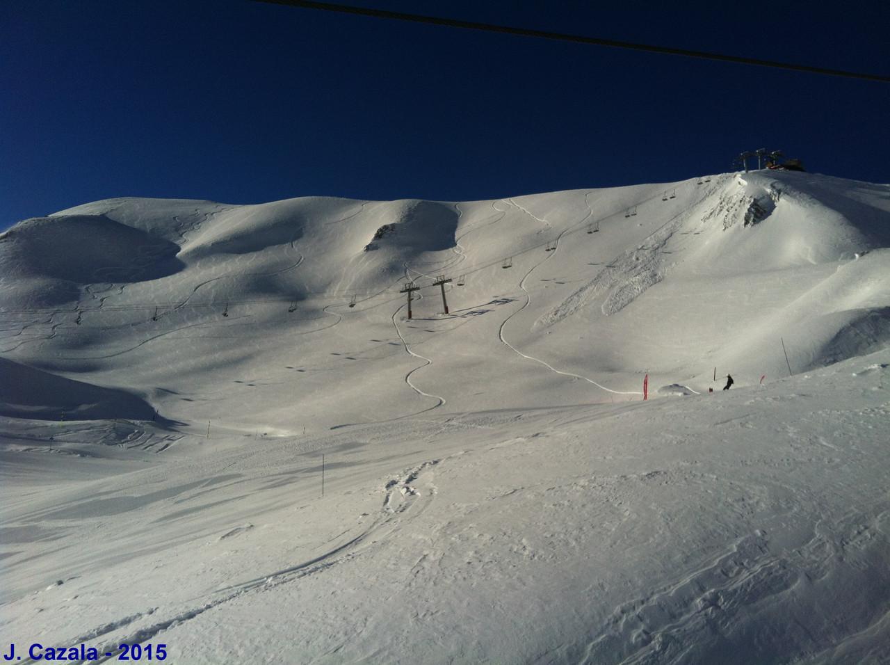 Grand soleil et neige fraiche !