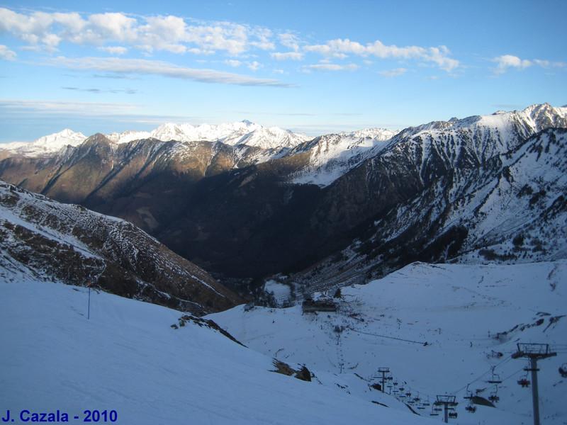1ère journée de ski de cette fin d'année à Cauterets